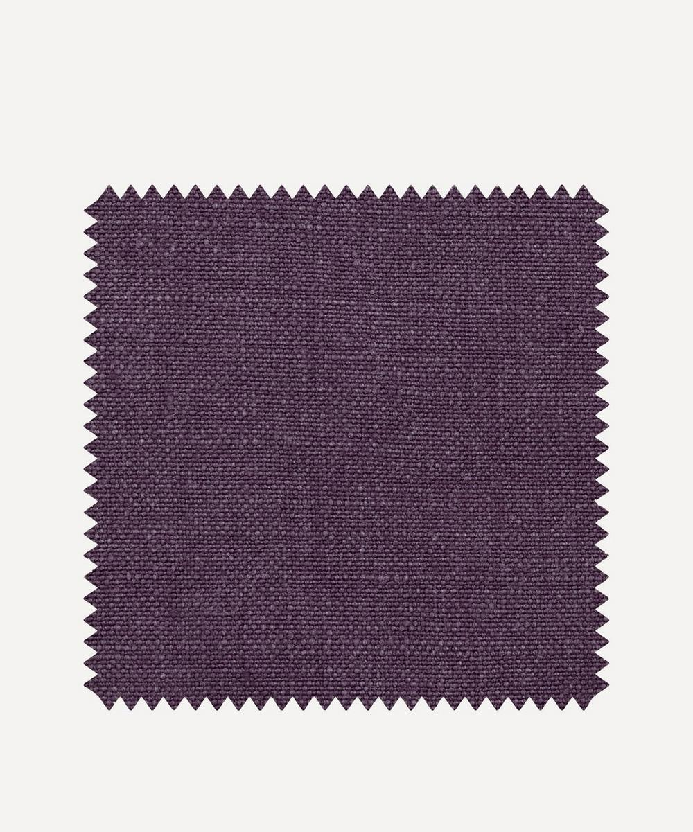 Liberty Interiors - Fabric Swatch - Brinjal Plain Emberton Linen