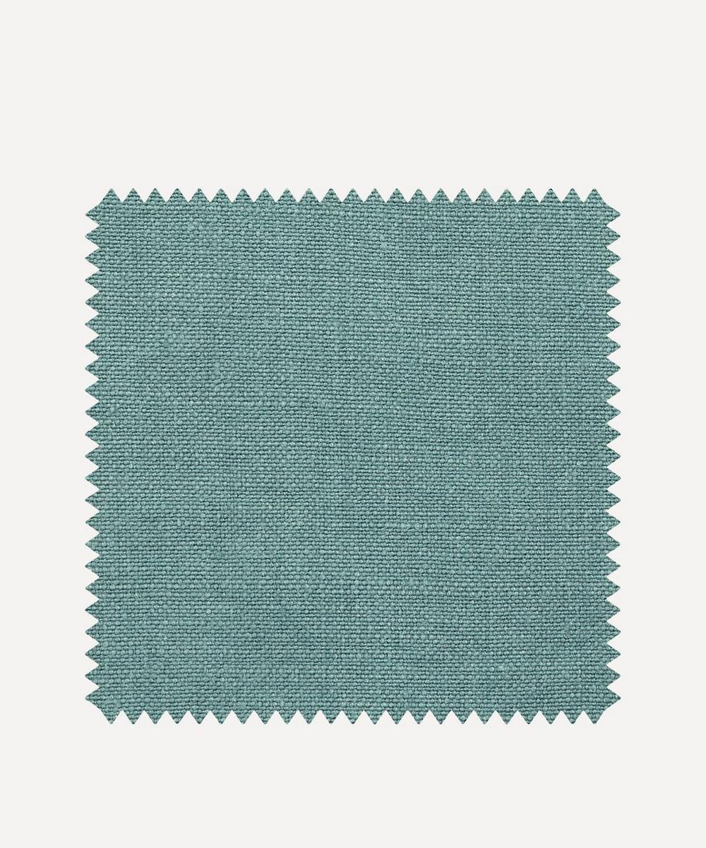 Liberty Interiors - Fabric Swatch - Robin's Egg Plain Emberton Linen