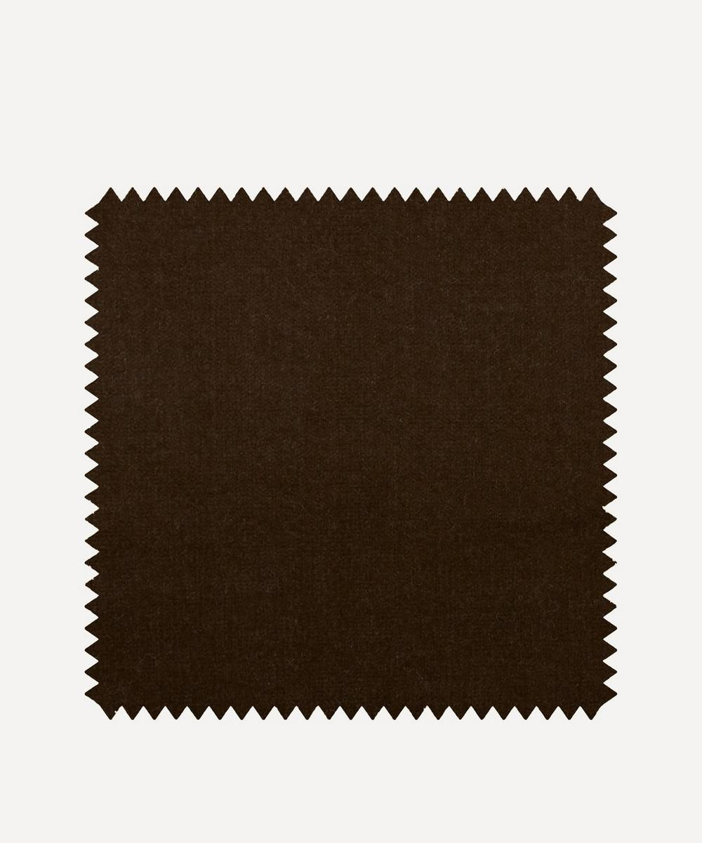 Liberty Interiors - Fabric Swatch - Mole Plain Cotton Velvet