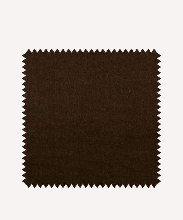 Liberty Interiors - Fabric Swatch - Mole Plain Cotton Velvet