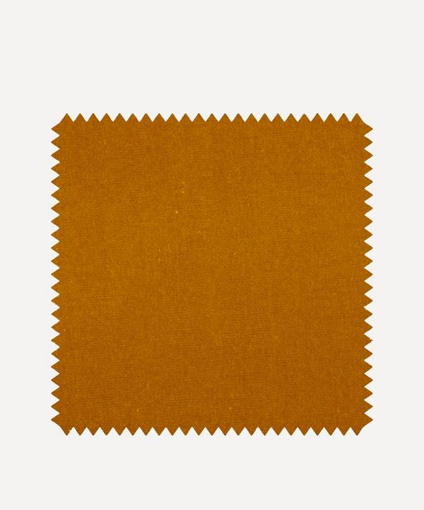 Liberty Interiors - Fabric Swatch - Fennel Plain Cotton Velvet
