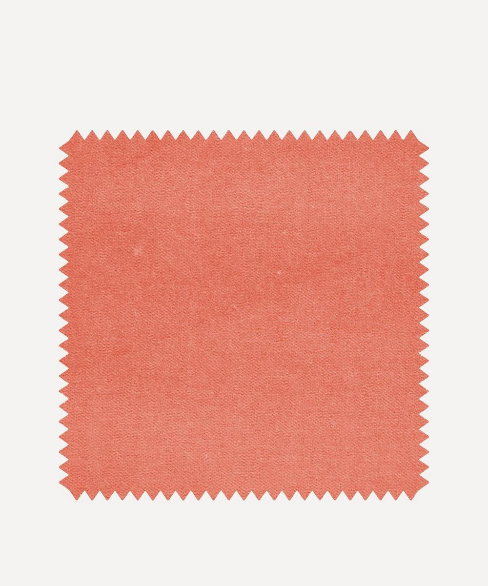 Liberty Interiors - Fabric Swatch - Bloomer Plain Cotton Velvet