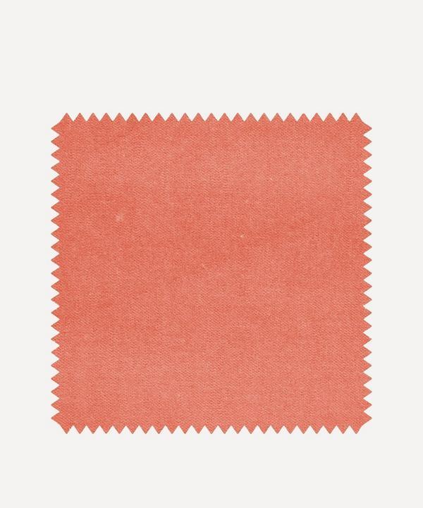 Liberty Interiors - Fabric Swatch - Bloomer Plain Cotton Velvet