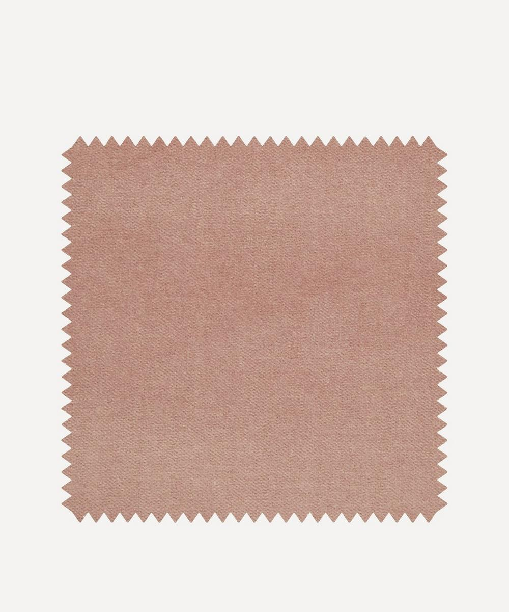 Liberty Interiors - Fabric Swatch - Slipper Plain Cotton Velvet