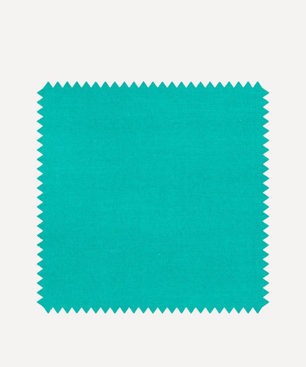 Liberty Interiors - Fabric Swatch - Jadeite Plain Cotton Velvet