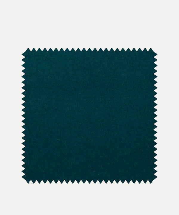 Liberty Interiors - Fabric Swatch - Scarab Plain Cotton Velvet