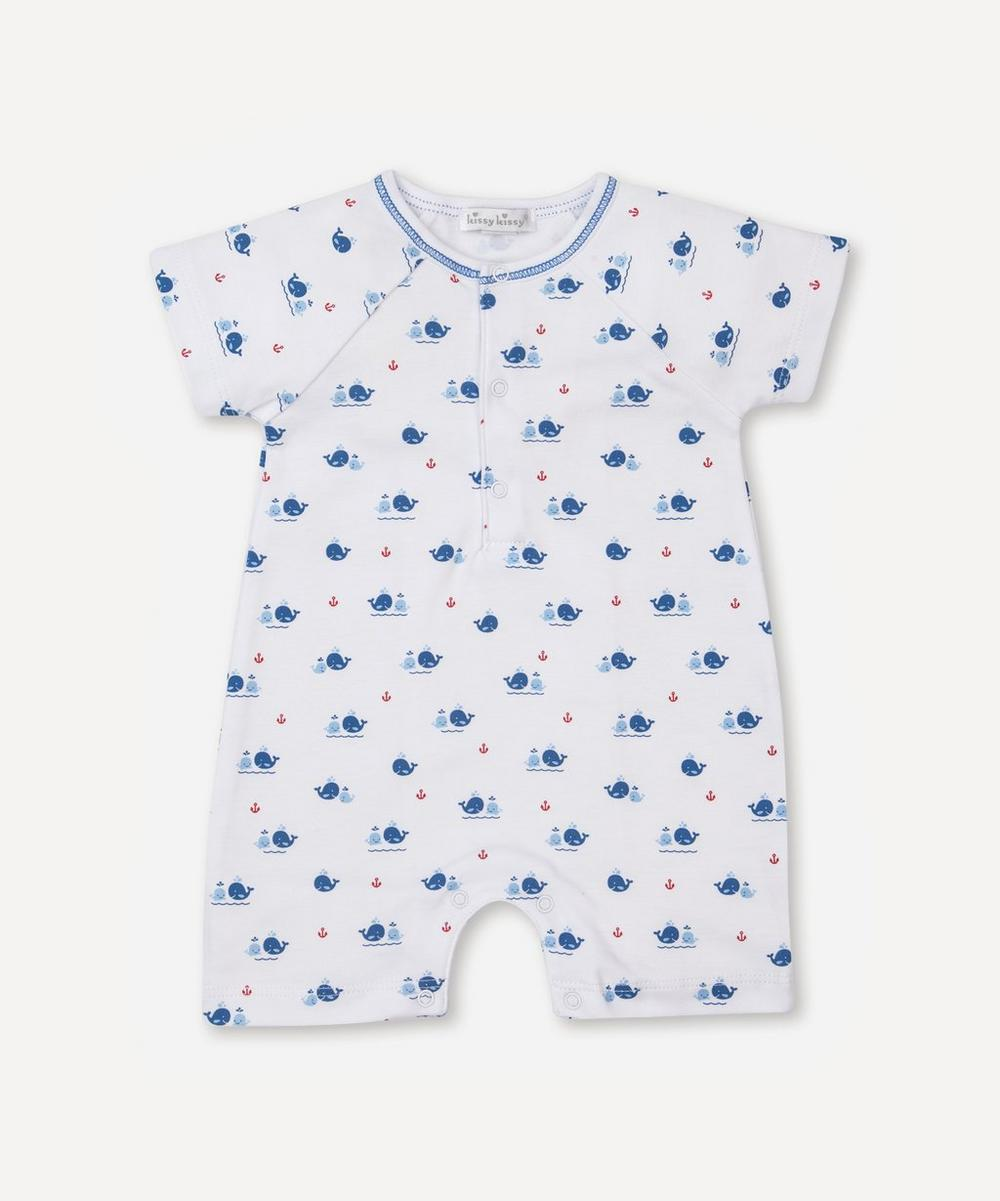 Kissy Kissy - Breaching Whales Short Playsuit 0-24 Months