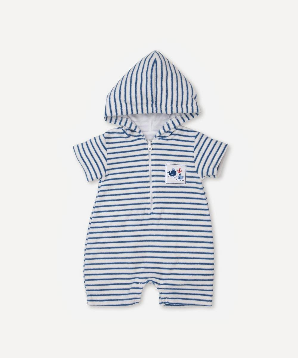 Kissy Kissy - Breaching Whales Terry Romper 0-18 Months
