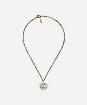 Gold-Tone Crystal Double G Pendant Necklace