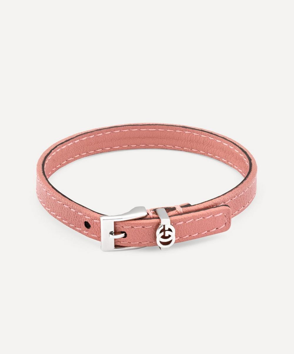 Gucci - Double G Buckle Leather Bracelet