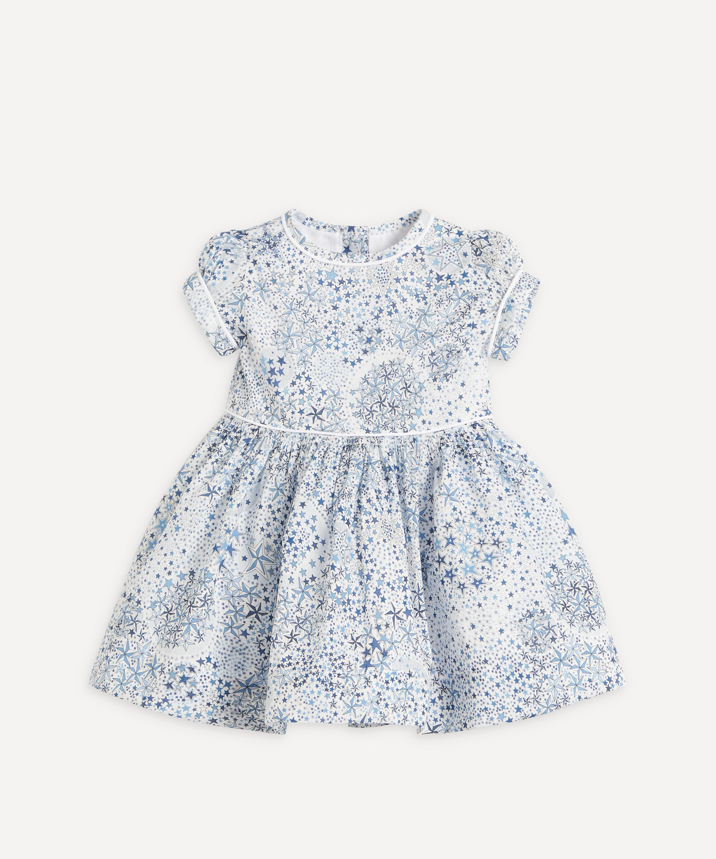 Liberty print tana lawn cotton dress with elephant yellow 3-4 years old