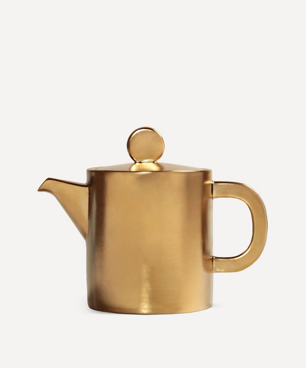 Klevering - Gold-Tone Canniken Teapot