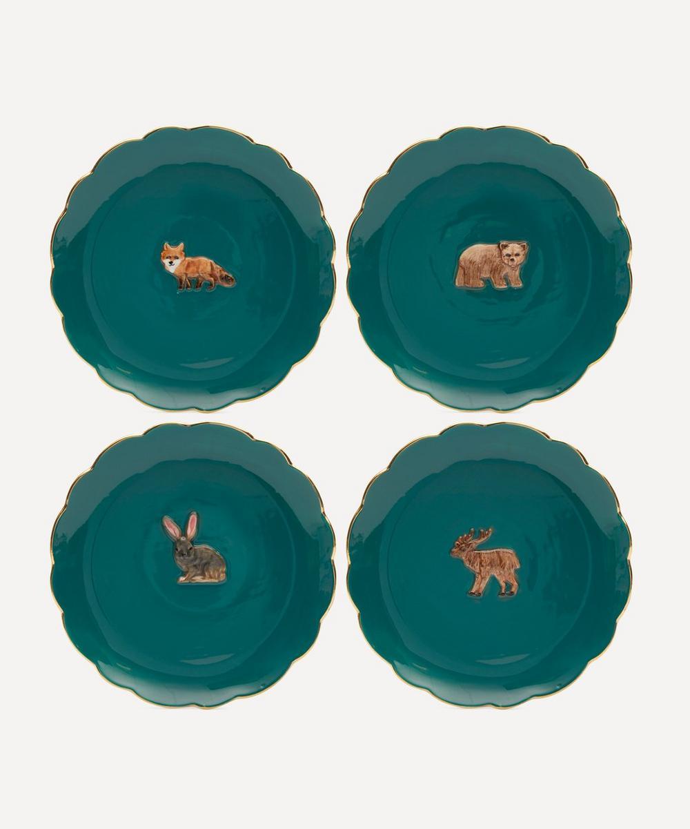 Klevering - Forest Animal Plates Set of Four