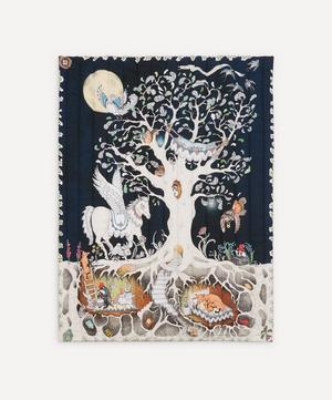Enchanted Forest Quilted Cot Blanket