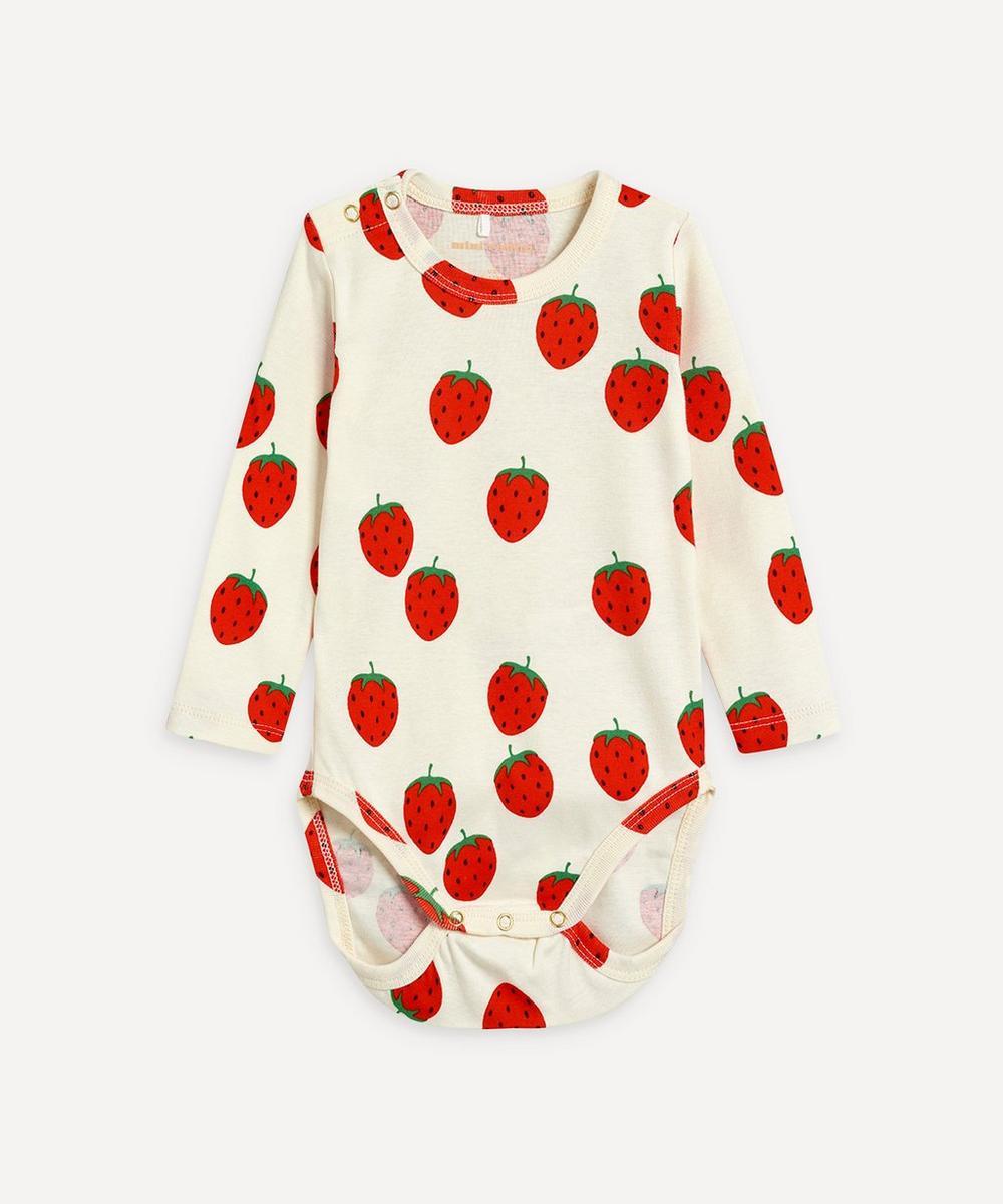 Mini Rodini - Strawberry Long-Sleeve Body 3-18 Months