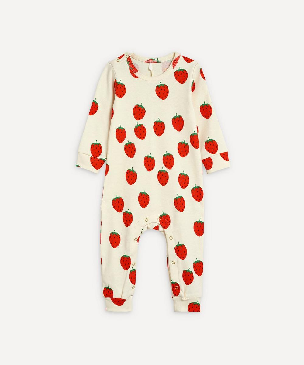 Mini Rodini - Strawberry Baby Grow 3-18 Months