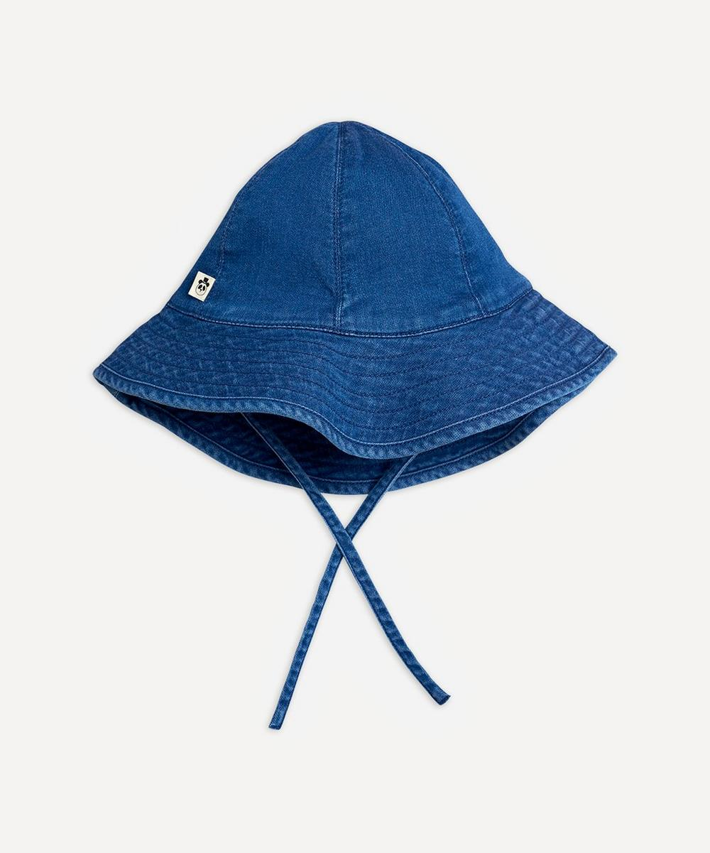Mini Rodini - Denim Strawberry Sun Hat 6 Months-2 Years
