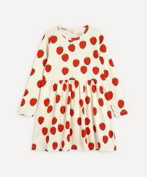 Strawberry Long-Sleeve Dress 2-8 Years