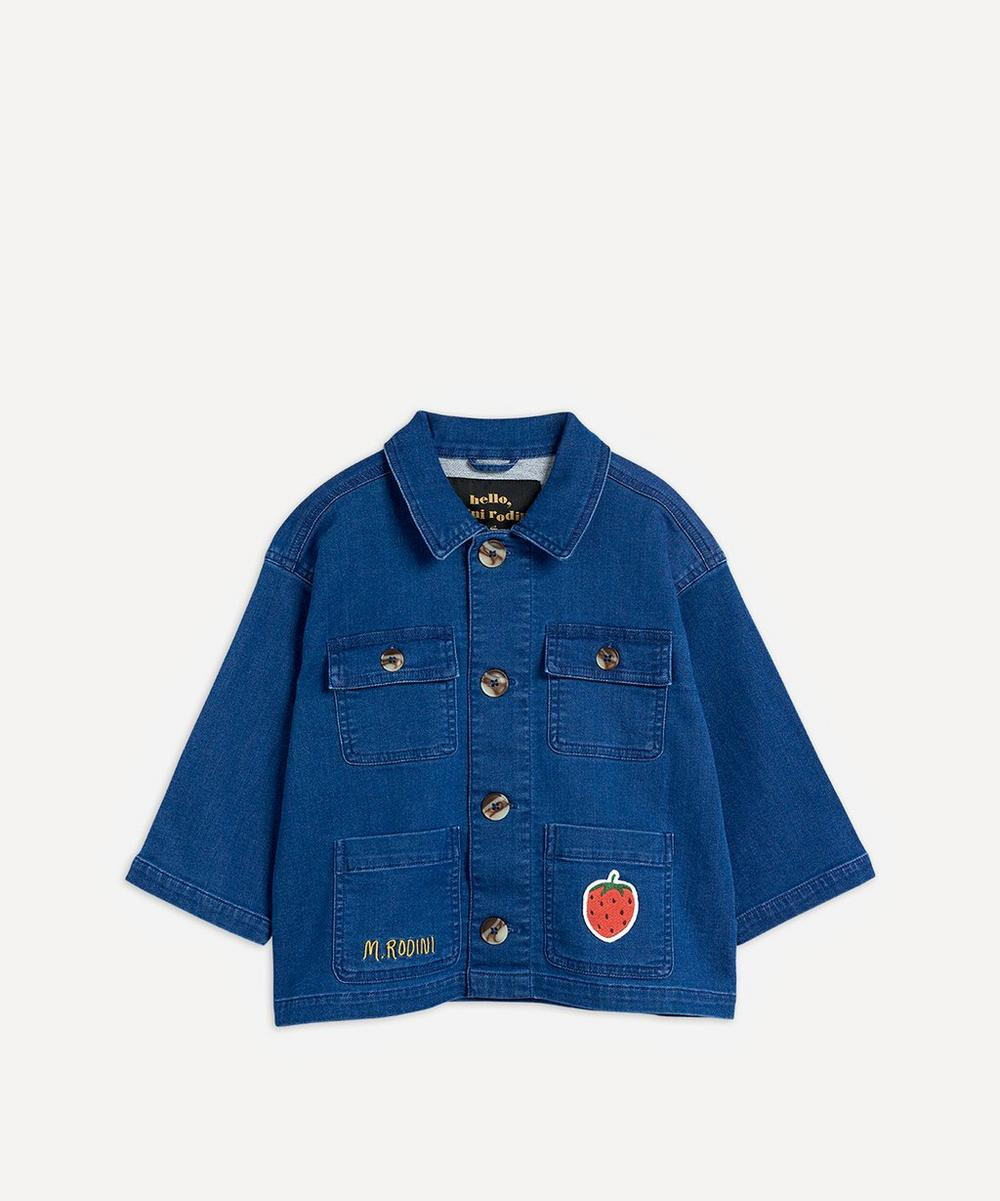 Mini Rodini - Denim Strawberry Safari Jacket 2-8 Years