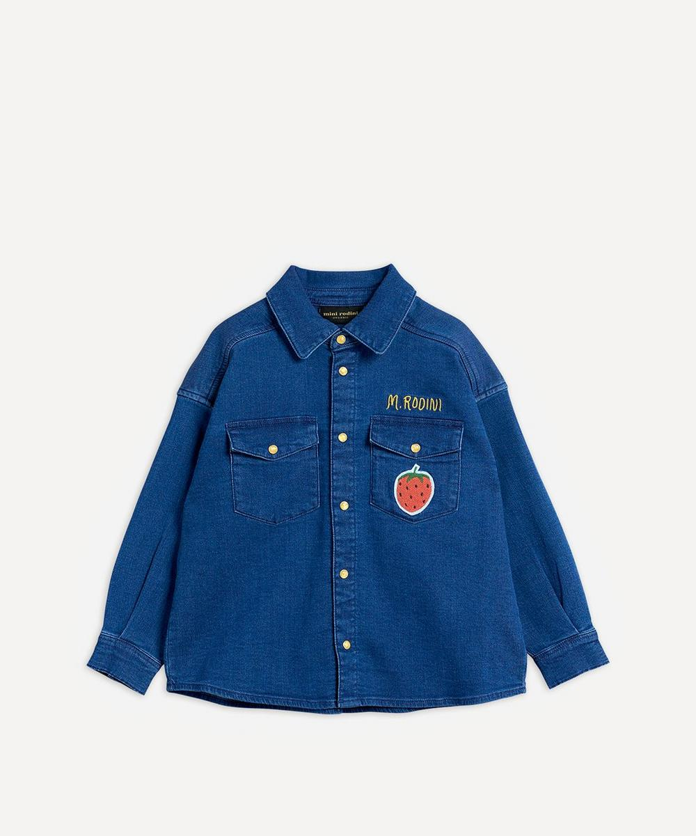 Mini Rodini - Denim Strawberry Shirt 2-8 Years