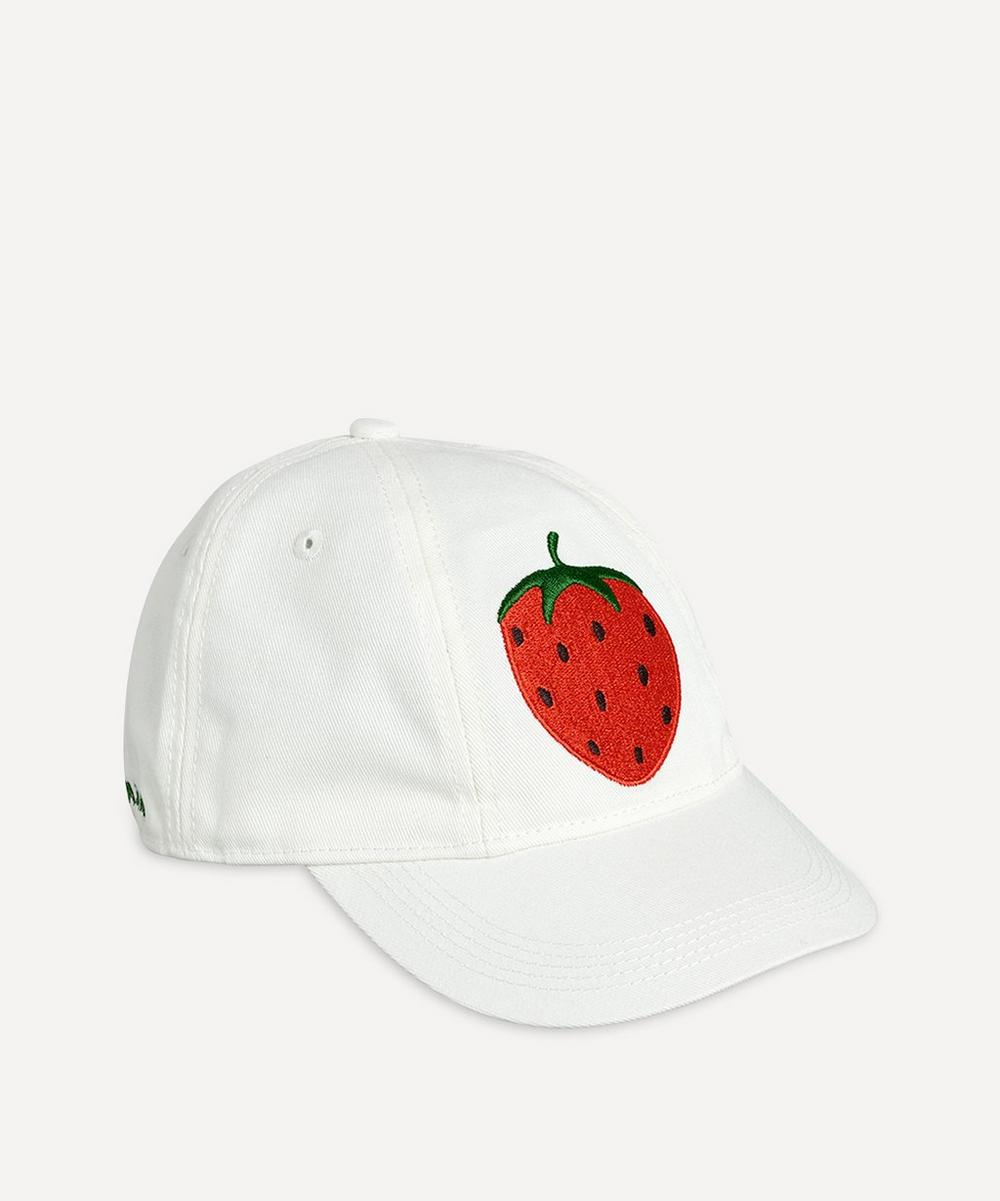 Mini Rodini - Strawberry Embroidered Cap 2-4 Years