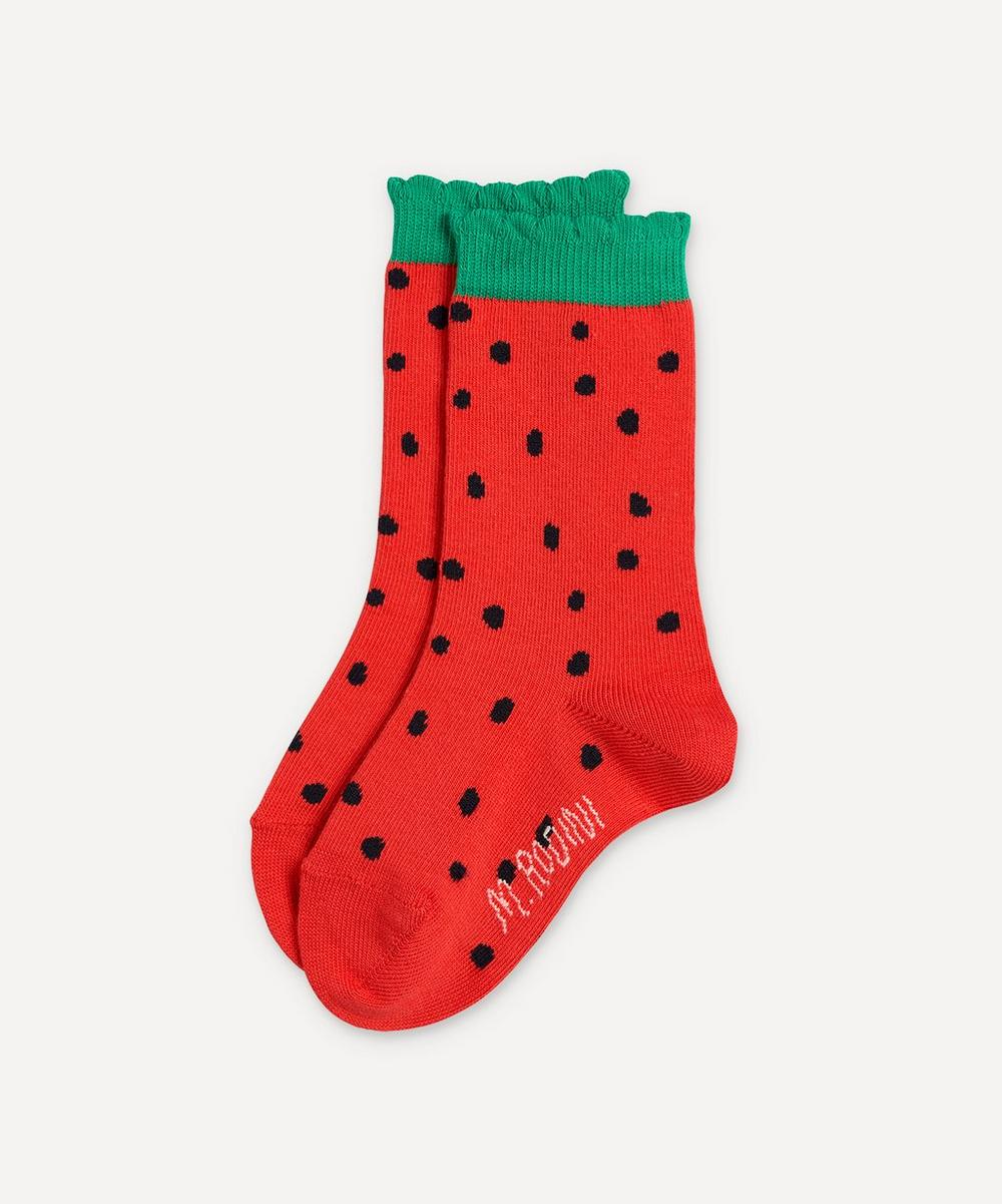 Mini Rodini - Strawberry Scallop Socks 2-8 Years