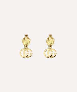 Gold GG Running Drop Earrings