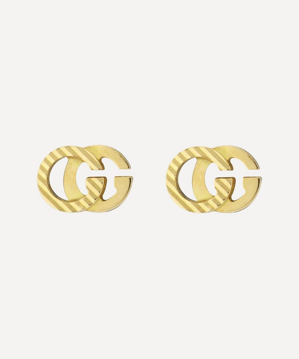 Gucci - Gold GG Running Stud Earrings