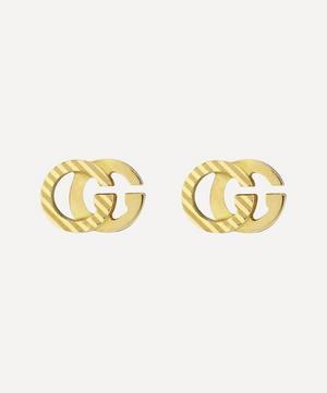 Gold GG Running Stud Earrings