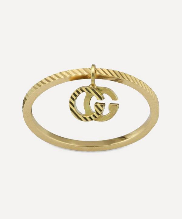 Gucci - Gold GG Running Charm Ring