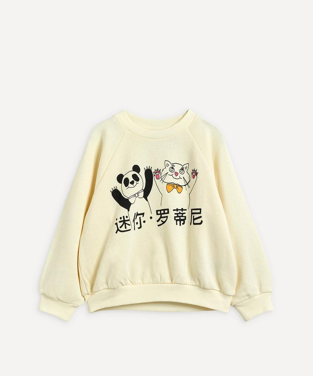 Mini Rodini - Cat and Panda Sweatshirt 3-18 Months