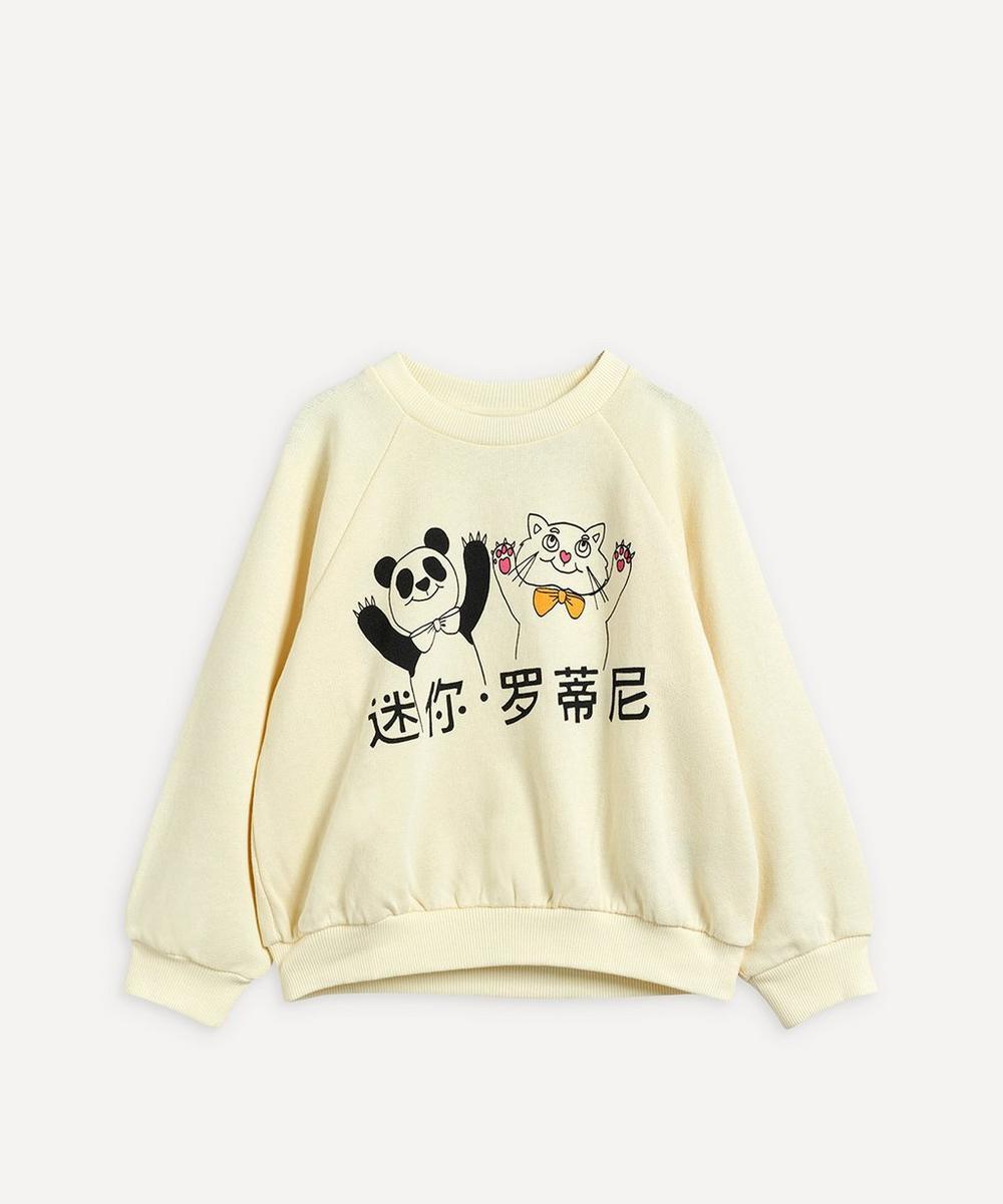 Mini Rodini - Cat and Panda Sweatshirt 2-8 Years