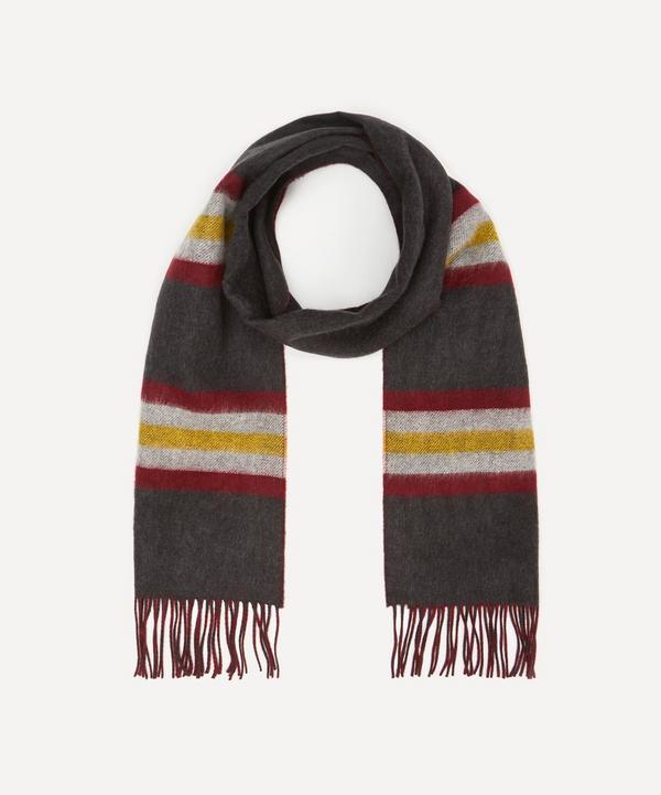 Johnstons of Elgin - Stripe Merino Wool Reversible Scarf