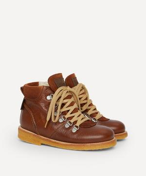 Leather Lace-Up Boots Size 30-31