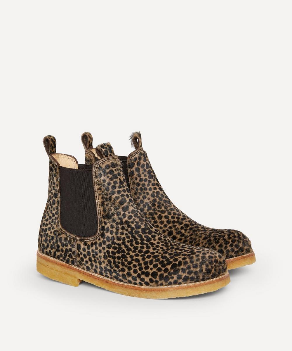 Angulus - Cheetah Pony Chelsea Boots Size 30-31