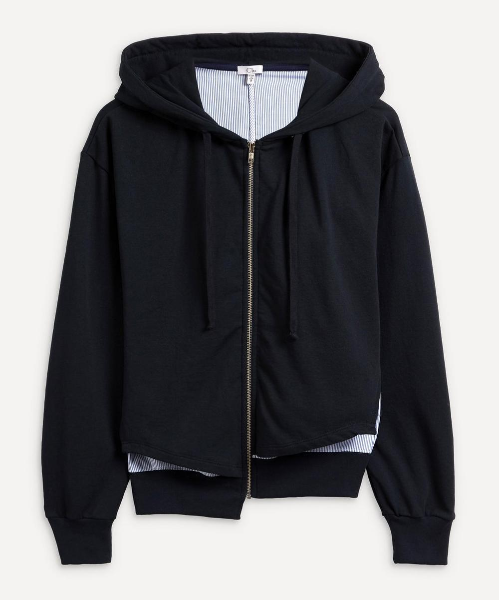 CLU - Step Hem Mix-Media Hoodie