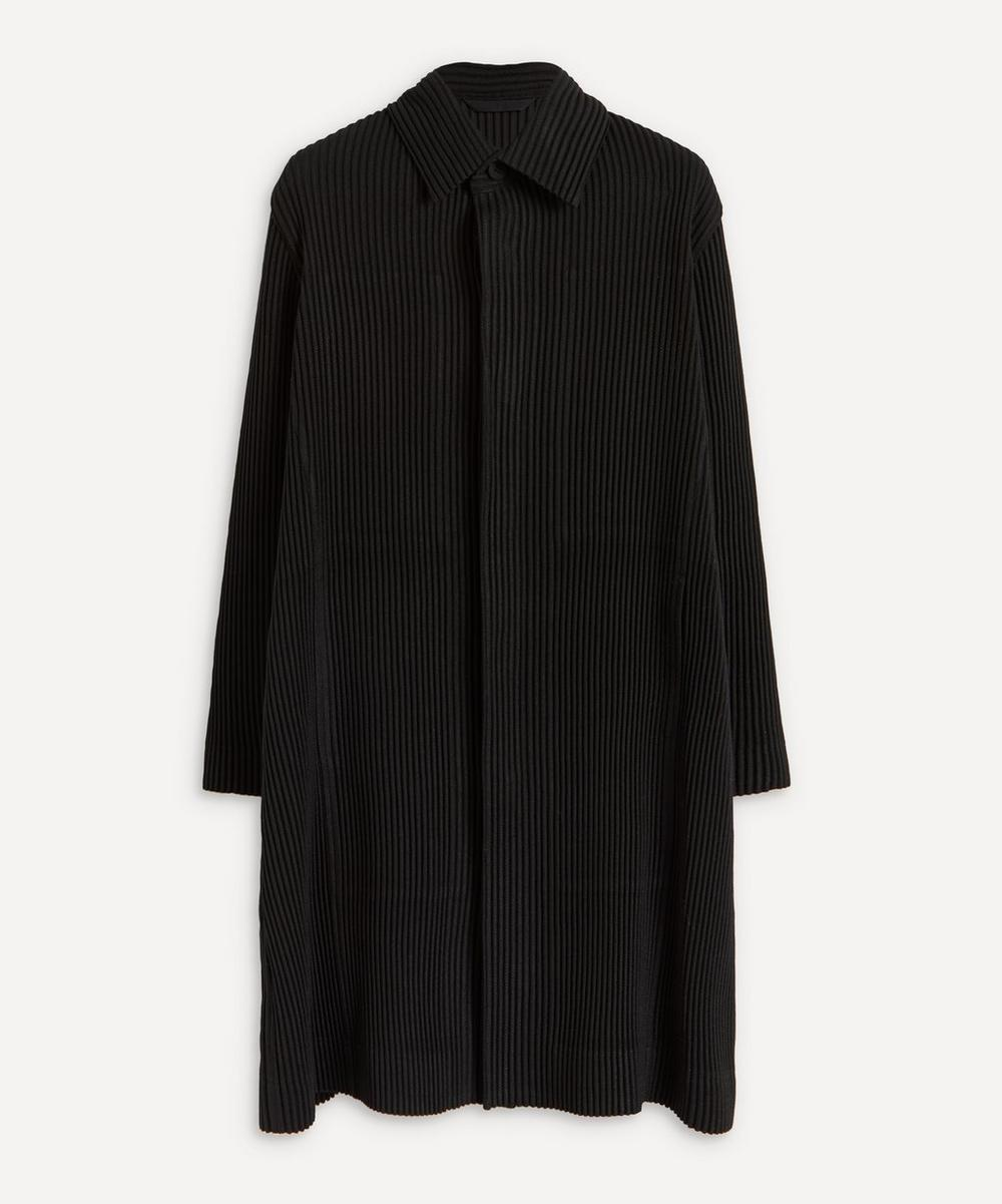 HOMME PLISSÉ ISSEY MIYAKE - Long Pleated Overcoat