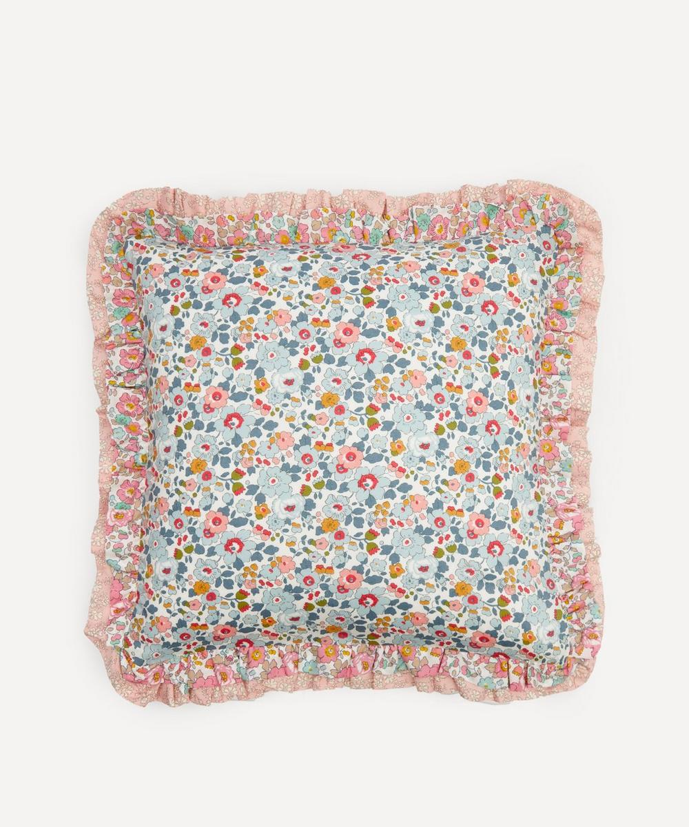 Coco & Wolf - Betsy Grey, Betsy Rose and Capel Double Ruffle Squared Cushion