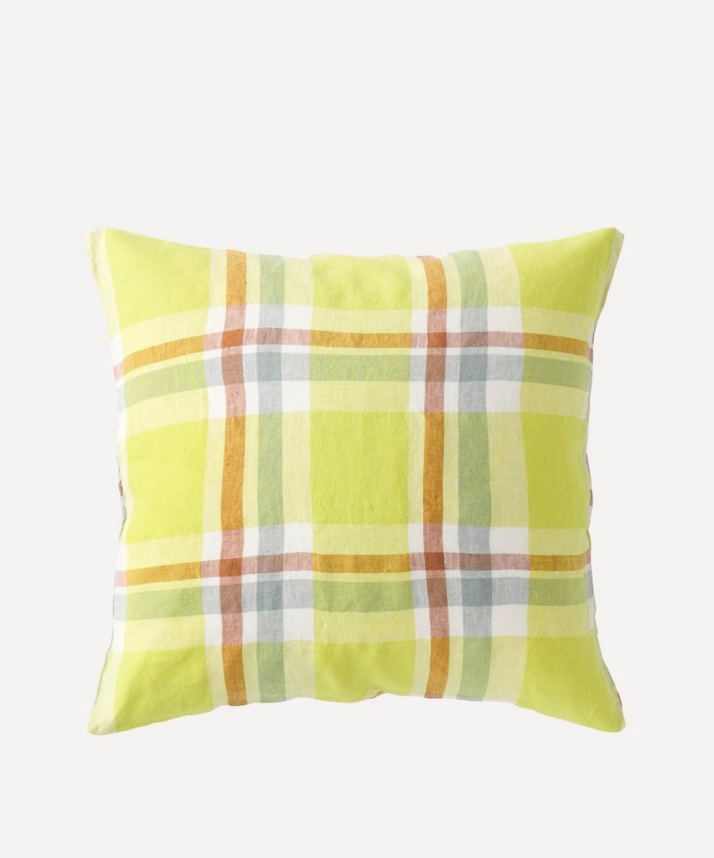 Society of Wanderers - Citron Check Cushion