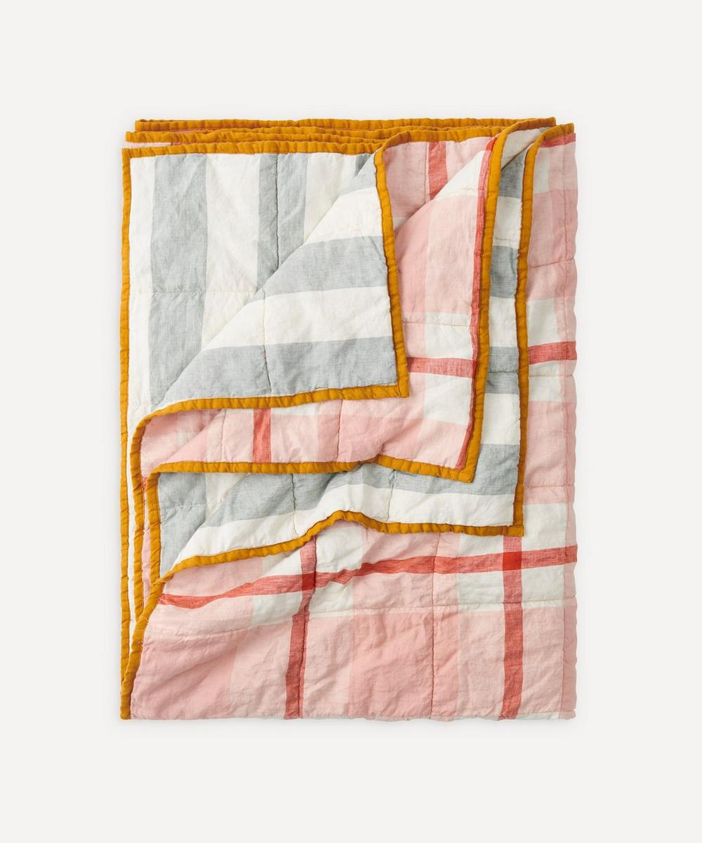 Society of Wanderers - Floss Fog Stripe Double-Sided Standard Quilt