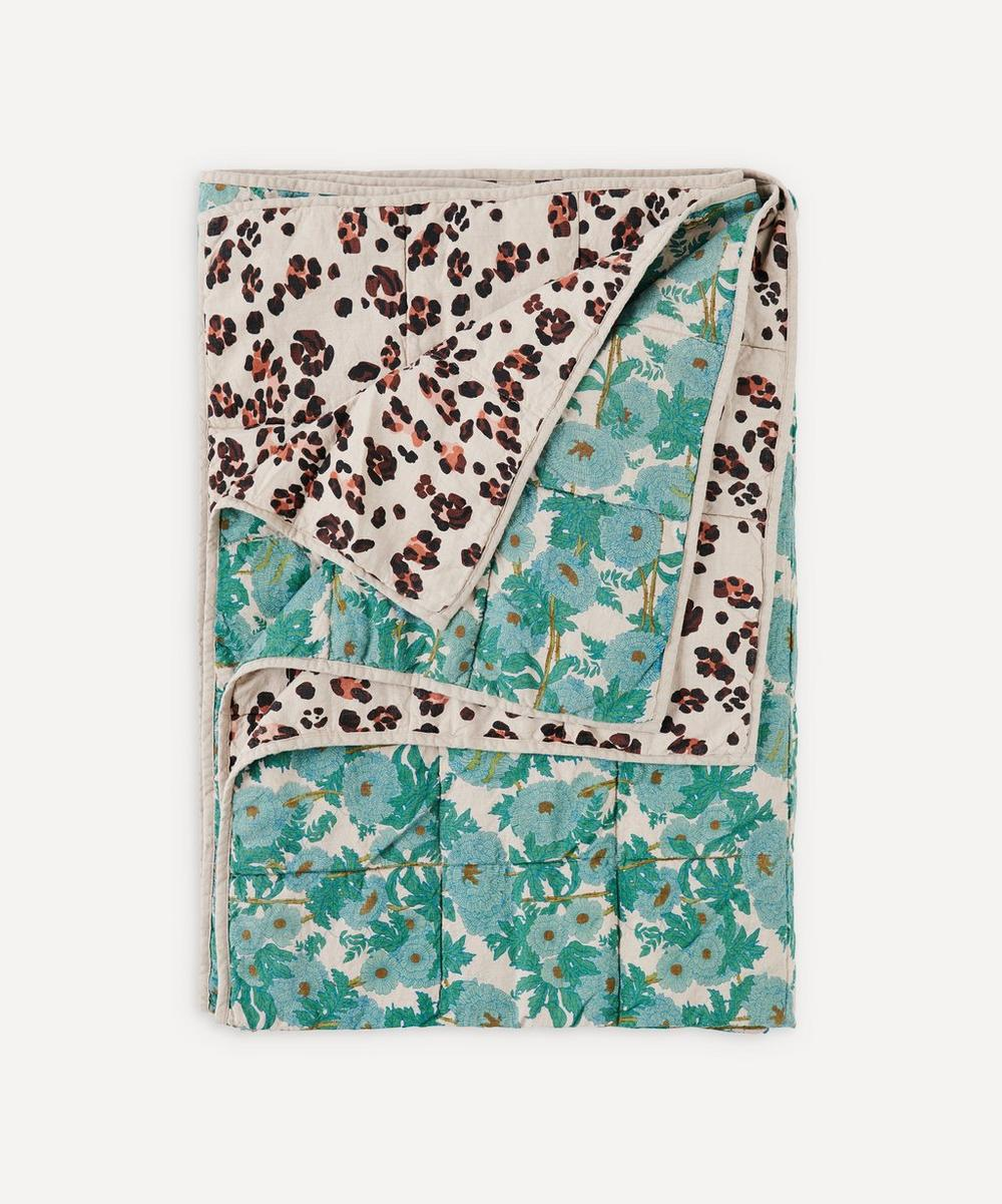 Society of Wanderers - Joan Leopard Double-Sided Standard Quilt
