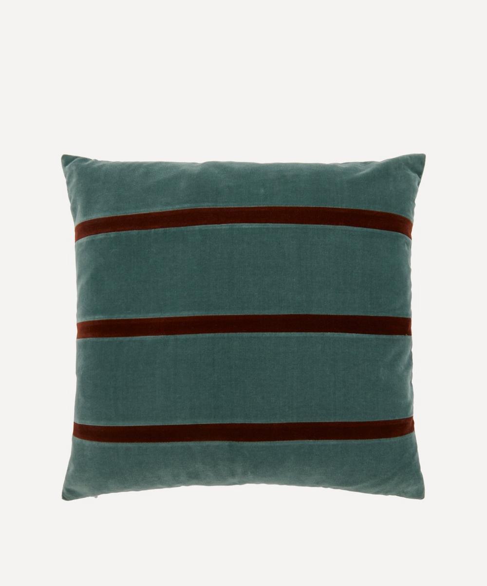 Christina Lundsteen - Gemma Striped Cotton Velvet Cushion
