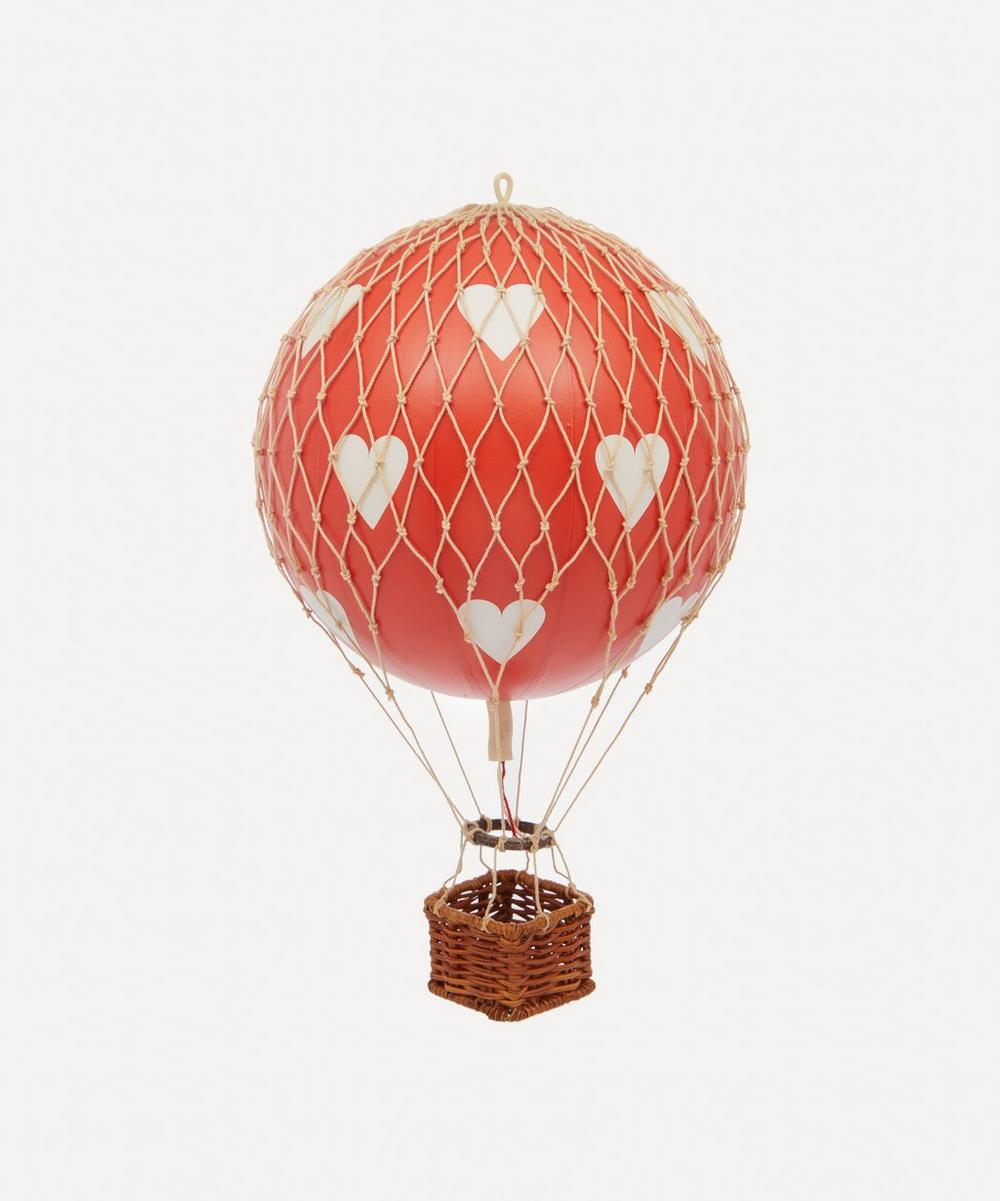 Authentic Models - Travels Light Red Hearts Balloon Model