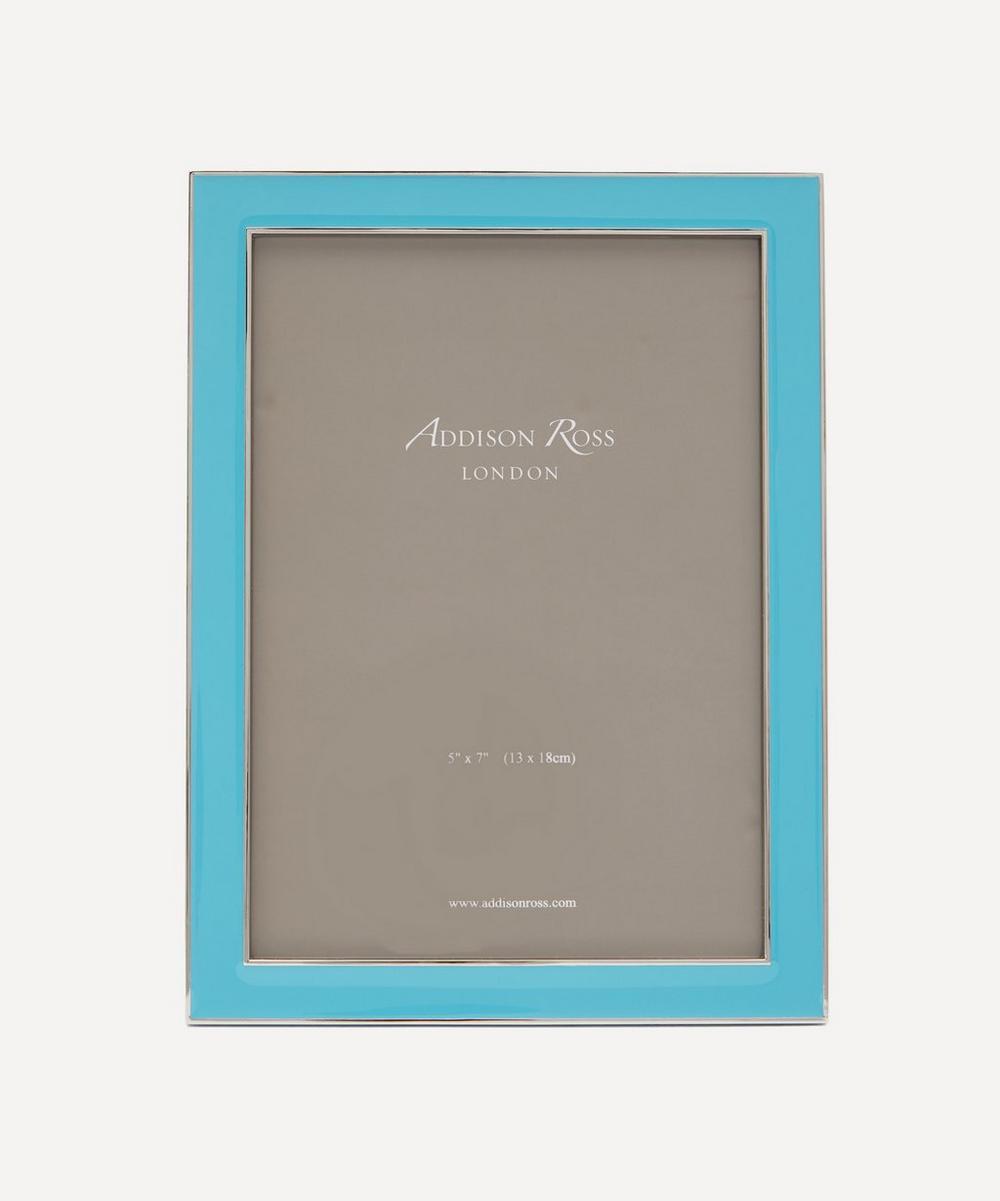 "Addison Ross - Aqua Blue Enamel 5x7"" Photo Frame"