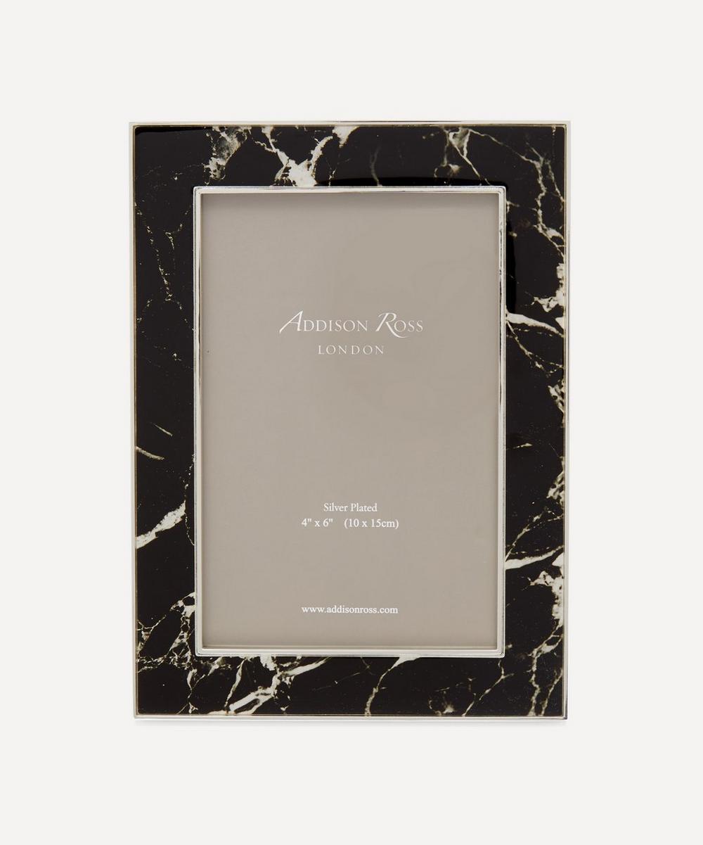 "Addison Ross - Black Marble 4x6"" Photo Frame"