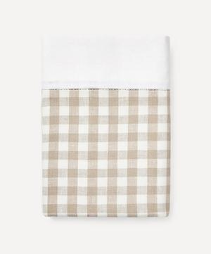 Gingham Linen Tablecloth