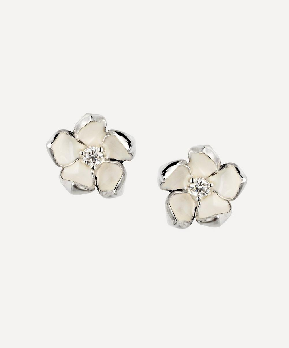 Shaun Leane - Cherry Blossom Diamond Flower Stud Earrings