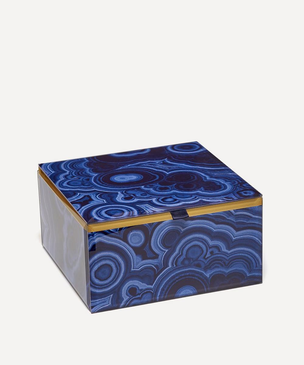 Lola Rose - Bubble Malachite Large Square Treasure Box