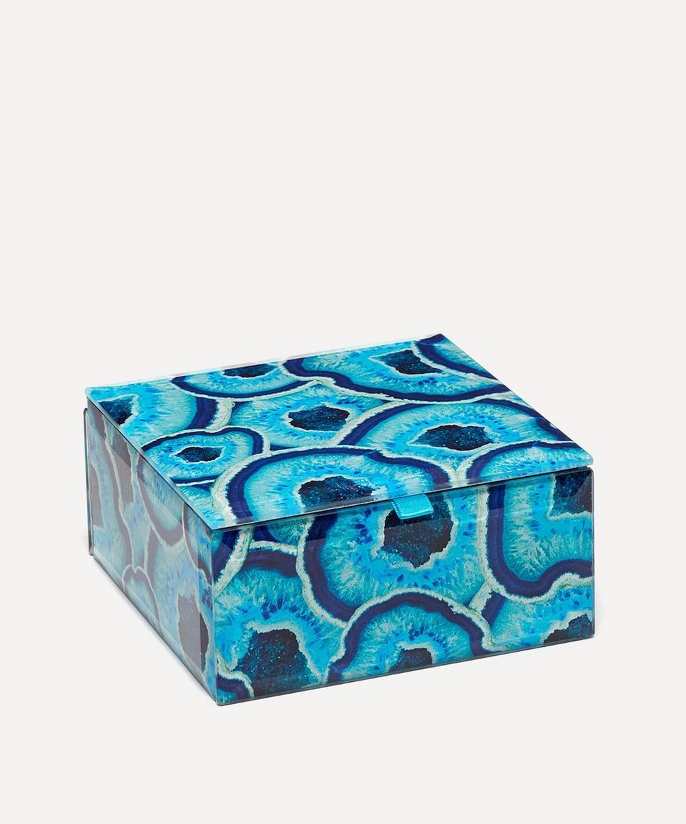 Lola Rose - Agate Slices Small Square Treasure Box