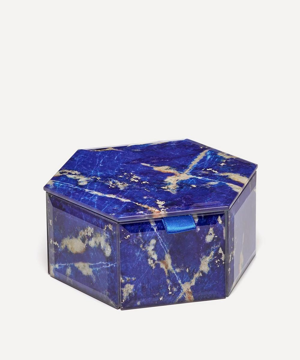 Lola Rose - Lapis Lazuli Small Hexagon Treasure Box